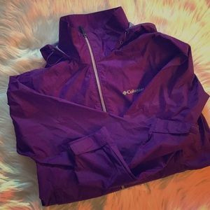 Purple Columbia wind breaker